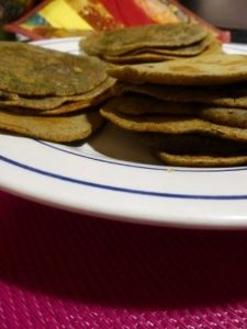 Blinis de sarrasin au curry indien