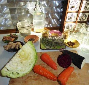 préparation des légumes lactofermentés