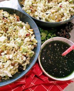 Salade de Chou chinois à la sauce de spiruline
