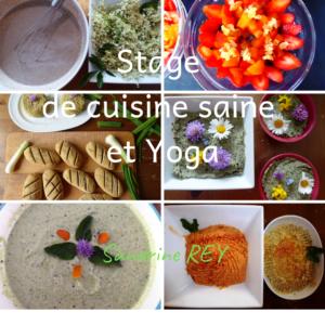 Stage de cuisine sainte et yoga à la Jarjatte
